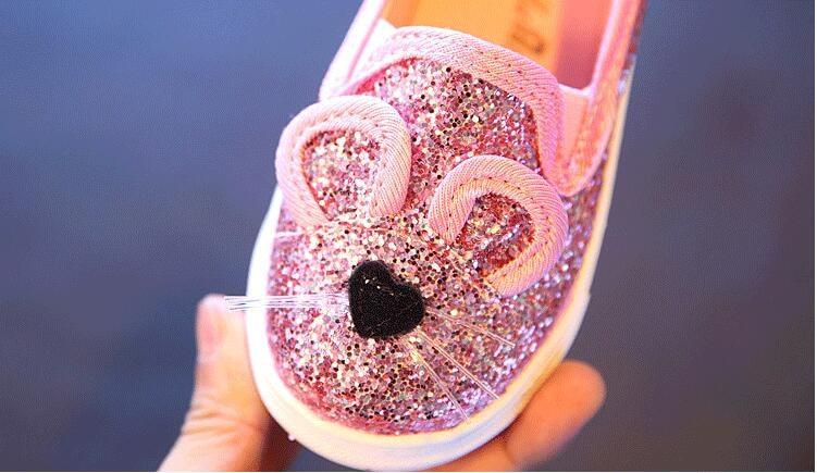 Cute Kids Girls Shoes 17 New Autumn Cartoon Bunny Cat Princess Flat Fashion Toddler Baby Girls Sneakers Children Casual Shoes 15