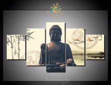 5 Pieces/set Peace Buddha Modern Wall Art For Wall Decor Home Decoration Picture Paint on Canvas Prints Painting for Living Room