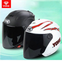 2017 Summer New YOHE Half Face motorcycle helmet YH-882B 3/4 Half Cover Motorbike helmets made of ABS / PC visor lens FREE SIZE