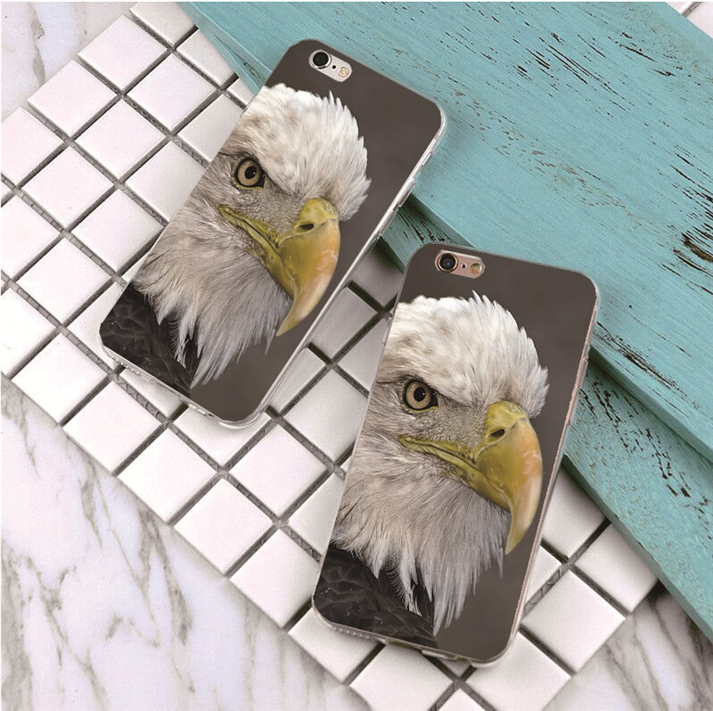 Top Quality The eagle Case For iPhone 6 4 4s 5S e 5 6 6S 7 Plus 6plus Ultra Thin Cover For iPhone 6 6s Phone Cases(China)