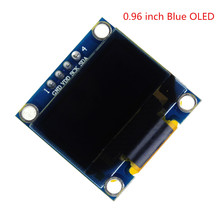 Free Shipping Blue 0.96  inch 128X64 OLED Display Module For arduino IIC SPI Communicate