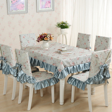 150*200cm Warmth Lace Tablecloth Set,13 Pcs/Set Chair Mats Chair Covers and Tablecloths,Tablecloths for weddings Party Dining