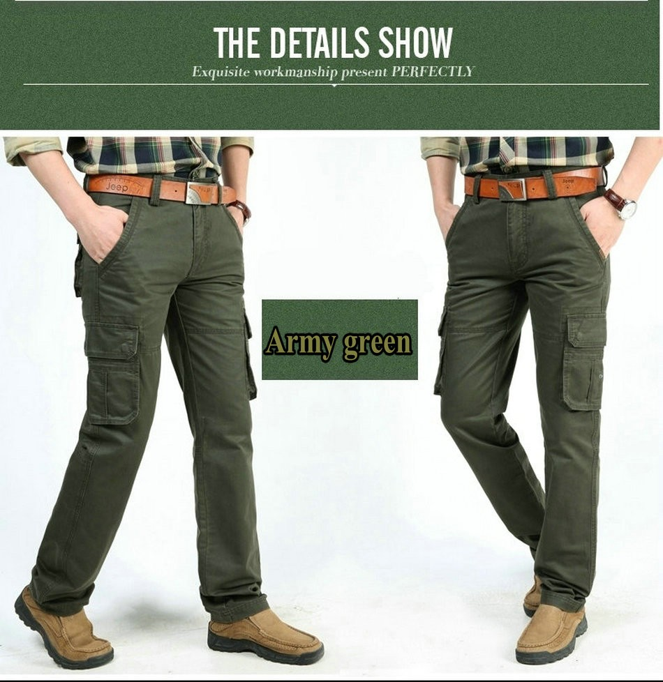 17 Brand Mens fashion Military Cargo Pants Multi-pockets Baggy Men Pants Casual Trousers Overalls Army Pants Joggers 2155 9