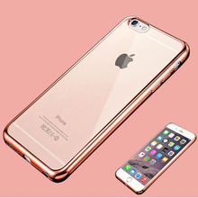 For iPhone X 7 6 6s Plus 5 5s SE Case Luxury Ultra Thin Crystal Rubber Plating Electroplating TPU Phone Back Bag Cases Cover