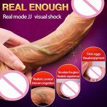 Buy Silicone Vibration Dildo Realistic Suction Cup Dildo Male Artificial Penis Dick Women Masturbator Vibrator Adult Toys Woman.
