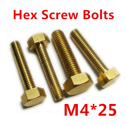 free shipping 50 pieces Metric Thread M4*25mm Brass Outside Hex Screw Bolts<br><br>Aliexpress