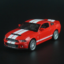Ford Mustang Shelby Cobra GT500 1:32 car model sound&light pull back kids toy metal Christmas gift free shipping Classic cars