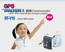 Personal Kids Child GSM GPRS GPS Mini Tracker SOS Communicator RF-V16 Realtime Web & APP Tracking Two-way Talking No retail Box