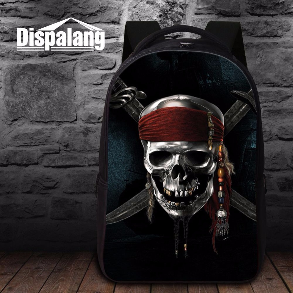 Dispalang high quality laptop computer notebook backpacks for men pirates of the caribbean Jack Sparrow print school backpack<br><br>Aliexpress
