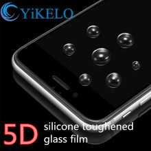 5D silicone 360 Full Cover Anti-explosion Dust protective Tempered glass film For Apple iphone 7 Plus 7plus screen protector