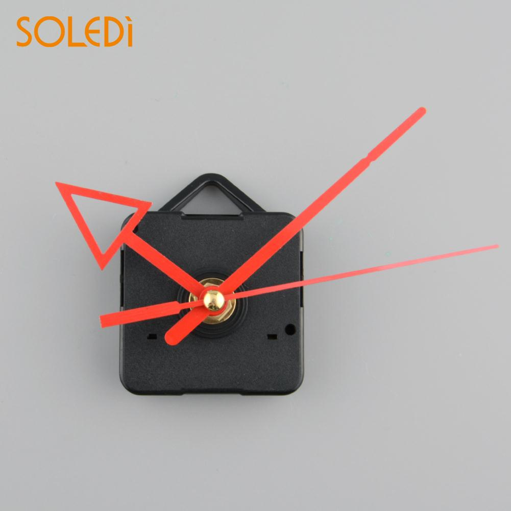 Clock Quartz Movement Mechanism Red and Black Hand DIY Replacement Part Set