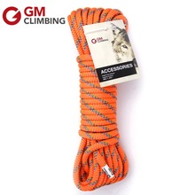 GM Climbing Rope 10mm Double Braid Tree Climbing Rope Accessory Cord Rescue Rappelling Mountaineering Equipment Prusik Hauling(China)