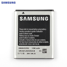 SAMSUNG Original Replacement Battery EB494353VU For Samsung S5330 S5232 C6712 S5750 GT-S5570 i559 S5570 Genuine Battery 1200mAh(China)