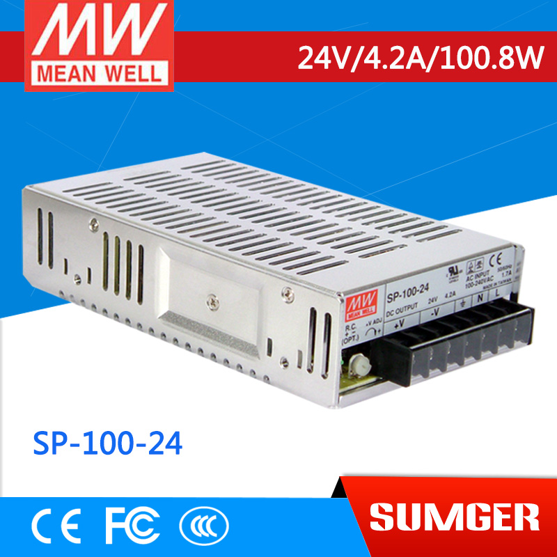 [SumgerT5] MEAN WELL original SP-100-24 24V 4.2A meanwell SP-100 24V 100.8W Single Output with PFC Function Power Supply<br><br>Aliexpress