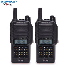 Sale! 2Pcs Baofeng UV-XR 10W High Power Dual Band 136-174/400-520MHz Waterproof Ham Two-Way Radio Walkie Talkie 10KM Long Range(China)