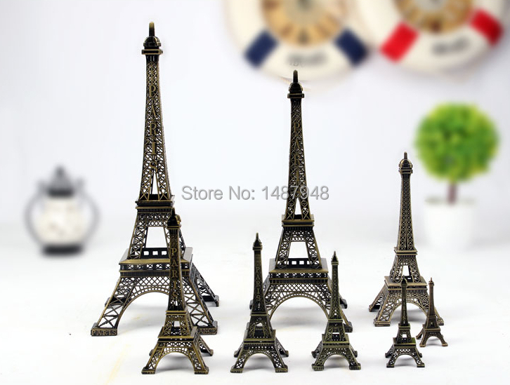 Hot sell Paris Eiffel Tower model metal ornaments fashion creative home accessories modern ornament crafts 7 different size(China (Mainland))