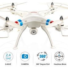 Syma X8C Drones with with 2MP Wide Angle HD Camera 2.4G 4CH 6 Axis RC Quadcopter RTF RC Helicopter Drone Shatter Resistant Toys(China)