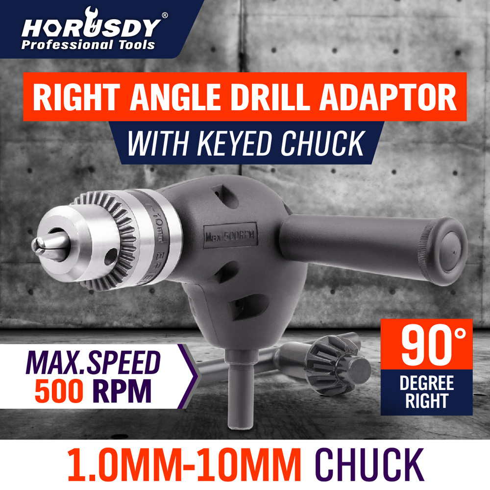 Right Angle Drill  Adaptor  With Keyed Chuck Angle Adaptor Metal Gear 90 Degree Right Angle Drill Attachment 3/8 Chuck NEW<br><br>Aliexpress