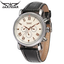 JARAGAR Casual Deluxe AUTO Mechanical 6 Hand Mens Multi Function Watch Wristwatch  Gift Free Ship