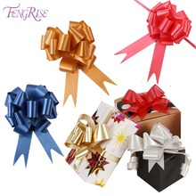 FENGRISE 30 Pcs 3x120cm Wedding Pull Bow Ribbons Flower Car Gifts Wrap Packing Valentines Day Birthday Events Party Supplies(China)