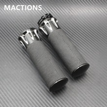 "1"" 25mm Black Motorcycle Parts CNC Deep Cut Handle Bar Hand Grips For Harley Touring Dyna Softail Custom Sportster 883 1200 XL"