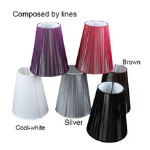 15cm Modern black white red brown Pull line Fabric wall light lamp shades, E14(China)