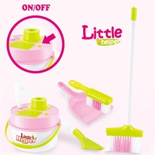 little helper pretend play house cleaning toys set  miniature  house keeping cleaning  broom&brush&dustpan&vacuum cleaner