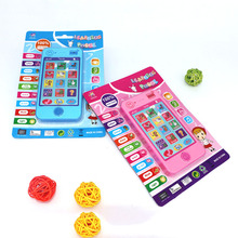 Russian Language Mobile Phone Electronic Cellphone ABC Alphabet Music Math Animal Sound For Early Learning Education Machines(China)