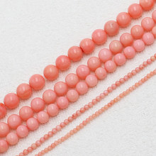 "Wholesale 2-9mm Pink Coral Round Loose Beads 15""/38cm, BeadsFor DIY Jewelry Making ! wholesale for all items!(China)"