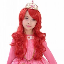 Shumeier 12Colors 80/60cm Adult/Children Long Wavy Black Red Synthetic Cosplay Hair Wigs Heat Resistant Fiber