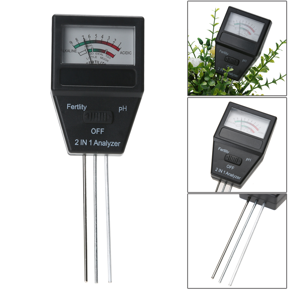 2017 2IN1 Analyzer Soil Moisture Meter and pH Level Tester Garden Plant Analyzer Garden Tool for Plants Crops Flowers Vegetable