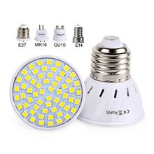 Led Spotlight 220V 230V Led Lamp Bulb E27 GU10 MR16 E14 High Bright Light SMD2835 48/60/80LEDs Lampara For Home Lamps
