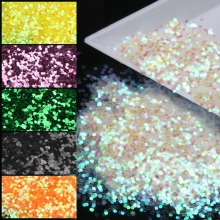 10g/piece 3D Nail Stud Jewelry Accessories Round Acrylic Nail Glitter Powder Dust 3D DIY Nail Pigment For Adult WY25-WY36(China)