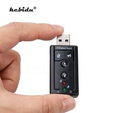 kebidu3D External 7.1 CH Channel USB Audio Sound Card Mic Adapter Speaker 3.5mm Jack Stereo Headset For Win XP 7 8 Linux Android(China)