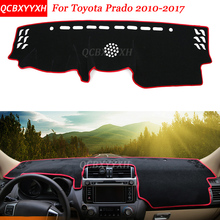 Car Styling Dashboard Avoid Light Pad Polyester For Toyota Prado 2010-2017 Instrument Platform Desk Cover Protective Mats(China)