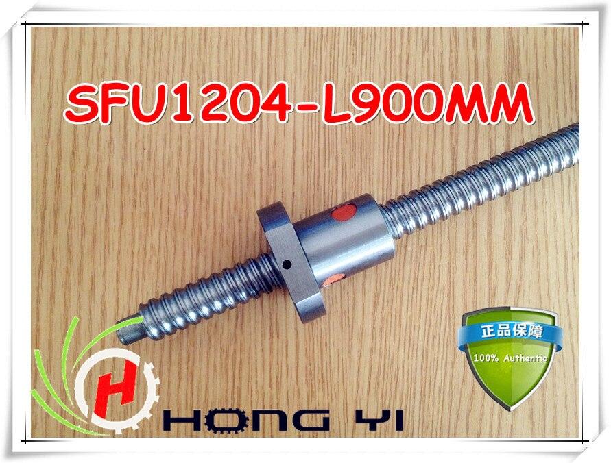 1set 1204 rolled ballscrew Linear motion CNC XYZ Ball screw SFU1204 L-900mm length with one Ballnut<br>