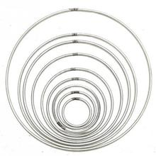 10 Size Diameter Round Metal Hoop Dreamcatcher Ring wall hangings Macrame Crafts Hoop for spirit shields mandelas Home DIY Decor(China)