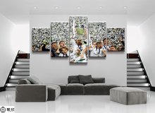 5 Panel Champions League Real Madrid Canvas Printed Painting For Living Room Wall Art HD Decor Modern Artworks Animation Poster