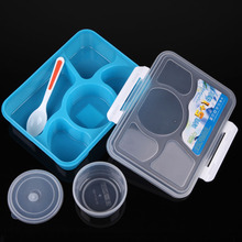 1400ML 5+1 Bento Lunch Box for Kids Picnic Container Portable Microwave Food Storage Box Dinnerware Sets