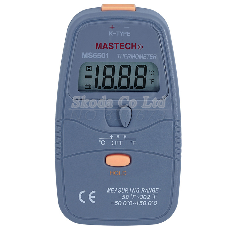 MASTECH MS6501 Handheld K-type thermocouple digital thermometer temperature meter Resolution 1999 counts 0.1 Celsius<br><br>Aliexpress