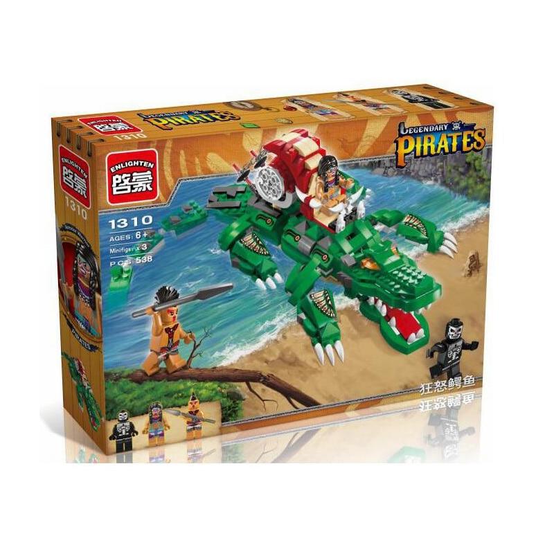 Bevle Enlighten 1310 legendary Pirates the Caribbean crocodiles Building Block Toy Compatible with Legoe<br><br>Aliexpress