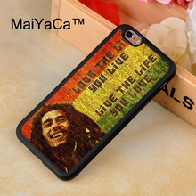 MaiYaCa Bob Marleys Case For iPhone 8 Coque 360 Full Protection Soft TPU Back Cover For iPhone 8 Phone Cases(China)