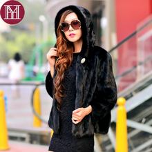 Women natural mink fur jacket 2017 winter luxury full pelt lady brand 100% genuine mink fur outerwear coat high quality