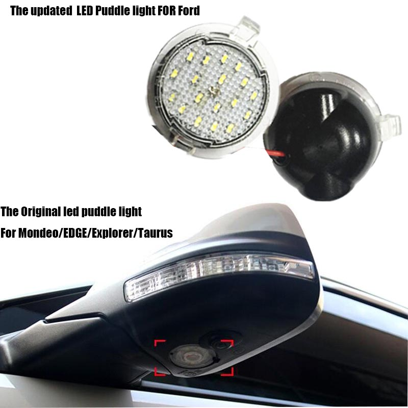 2x for Ford LED Side Mirror Puddle Light led under mirror light For Edgy Explorer Mondeo Taurus Auto led bulbs lamp Car-styling<br><br>Aliexpress
