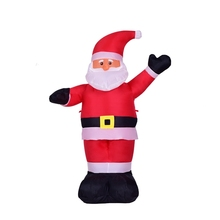 Christmas Inflatable Santa Claus 4-feet Lighted Holiday Airblown Xmas Home Decoration In/Outdoor
