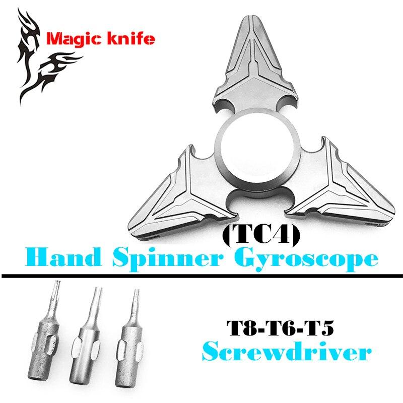 2017 Fall Titanium Alloy EDC Diamond Shape Plating Metal Finger Spinner Gyro Hand Spinner Gyroscope HandSpinner Torqbar Brass<br>