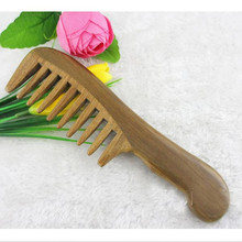 Natural Wood Comb Beauty Sandalwood Handmade Wide Tooth Head Massage Health Care Wooden Hair Brush