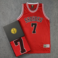 SLAM DUNK Shohoku 1-15 Sakuragi Hanamichi 2017 Red Basketball Jersey Tops Shirt Sport School Basketball Team Uniform M L XL XXL
