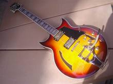 Wholesale New Cnbald  ES-345 Jazz Electric guitar semi hollow with bigsby bridge ES345 in sunburst a100312