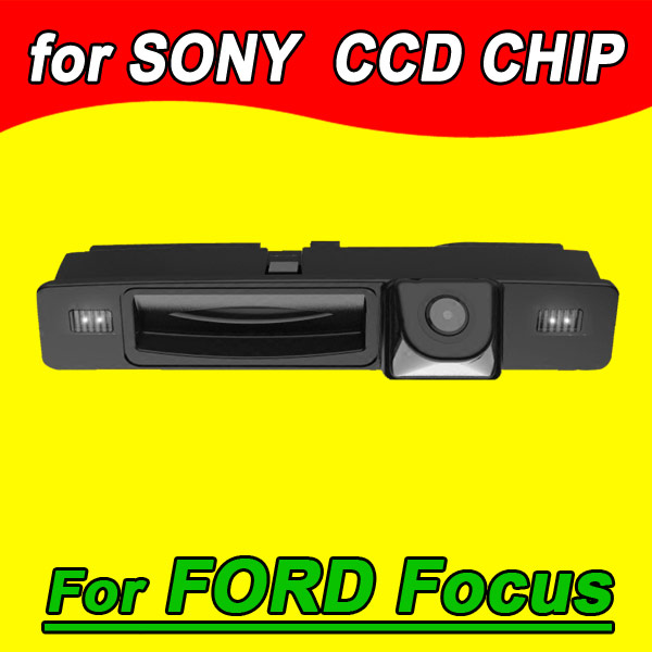 CCD car rear view back up reverse parking camera for ford new focus handle trunk camera waterproof night vision HD(China (Mainland))